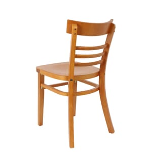 Solid Wood Eco-Ladder Back Commercial Side Chair in Cherry