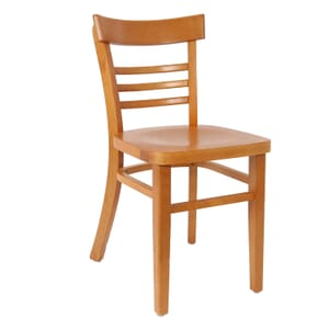 Cherry Wood Eco-Ladderback Side ChairCommercial Side Chair with Wood Veneer (Front)