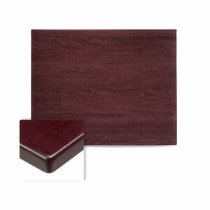 Rectangular Solid Beech Wood Table Top in Dark Mahogany