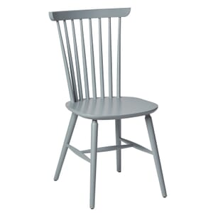 Solid Wood Spindle Back Chair in Pewter (front)