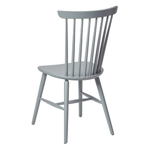 Solid Wood Spindle Back Chair in Pewter