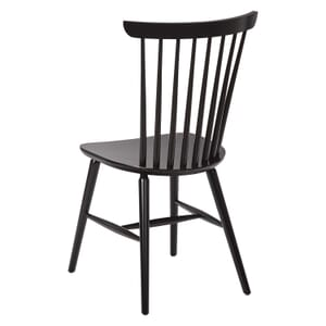 Solid Wood Spindle Back Chair in Black