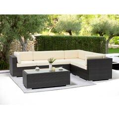 Modular Espresso Wicker Outdoor Lounge Set