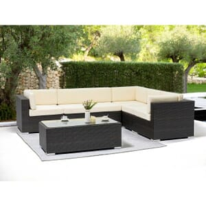 Modular Espresso Wicker Outdoor Lounge Set