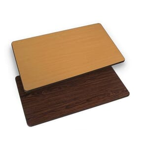 Rectangular Reversible Round Laminate Commercial Table Top