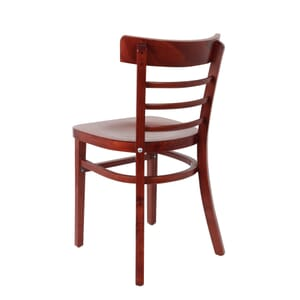 Solid Wood Eco-Ladder Back Commercial Side Chair in Mahogany