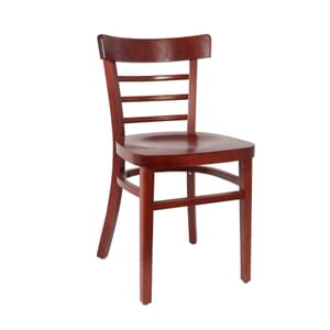 Mahogany Wood Eco-Ladderback Side ChairCommercial Bar Stool with Solid Beechwood Seat (Front)