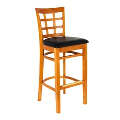 Cherry Wood Lattice Back Restaurant Bar Stool