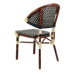Outdoor Aluminum Bamboo-Look Chair in Brown