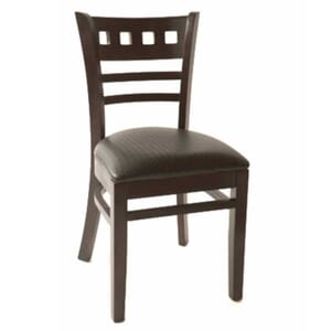 Roma Walnut Wood Commercial Chair With Upholstered Seat
