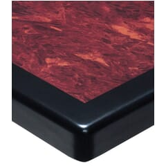 Mahogany & Black Resin Table Top