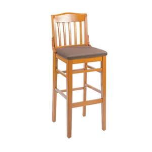 Schoolhouse Bar Stool - Cherry Wood