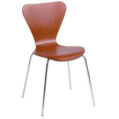 Wood Shell Stackable Commercial Chair in Cherry