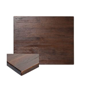 Reclaimed Ash Wood Rectangular Dining Table Top In Walnut (30