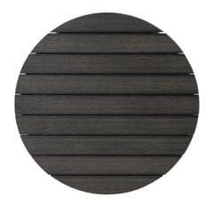 Pewter Synthetic Teak Wood Outdoor Restaurant Table Top