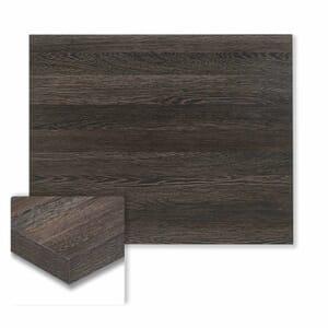 "Honeycomb Core High Pressure Melamine Indoor Zebrano Rectangular Dining Table Top (24""x 30"")"