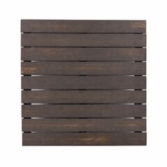 Brushed Brown Synthetic Teak Wood Outdoor Restaurant Table Top