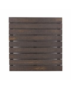 Rectangular Brushed Brown Synthetic Teak Wood Outdoor Restaurant Table Top