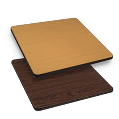 """Square Laminate Commercial Drop Leaf Table Top in Oak (36""""x 36"""" to 51"""" Round)"""