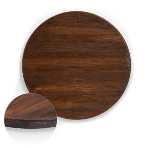 Reclaimed Elm Wood Table Top In Dark Walnut