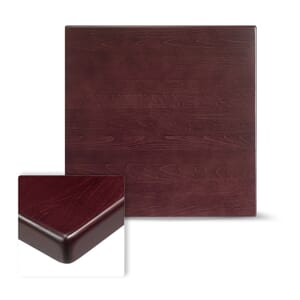 "Dark Mahogany Square Resin Dining Table Top (30""x 30"")"