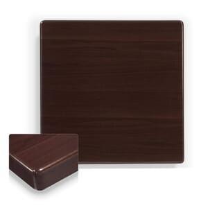 """Walnut Square Resin Dining Table Top (30""""x 30"""")"""