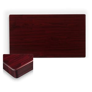 Rectangular Dark Mahogany Resin Table Top (front)