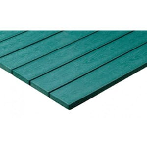 Green Synthetic Teak Wood Outdoor Restaurant Table Top