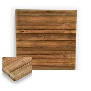 """Werzalit Distressed Walnut Square Outdoor Dining Table Top (32""""x 32"""")"""