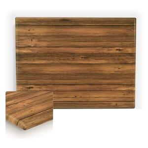 "Werzalit Distressed Walnut Rectangular Outdoor Dining Table Top (32"" x 48"")"