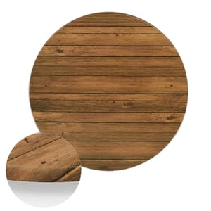 """Werzalit Distressed Walnut Round Outdoor Dining Table Top (48"""")"""