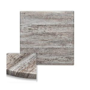 "Werzalit Reclaimed Wood Square Outdoor Dining Table Top (36""x 36"")"