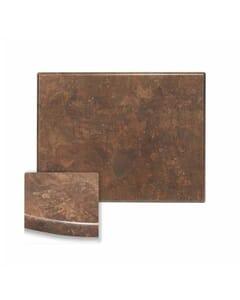 Rectangular Werzalit Wood Composite Outdoor Dining Table Top in Copper