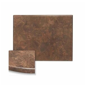 Rectangular Werzalit Wood Composite Outdoor Dining Table Top in Copper