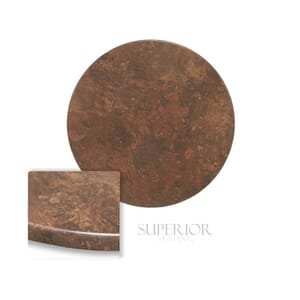 """Werzalit Copper Round Outdoor Dining Table Top (30"""")"""