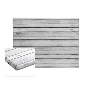 "Werzalit Distressed White Rectangular Outdoor Dining Table Top (24""x 30"")"