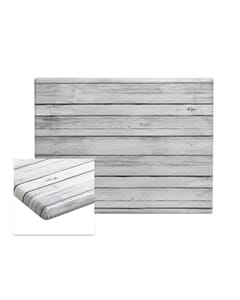 Rectangular Werzalit Wood Composite Outdoor Dining Table Top in Distressed White
