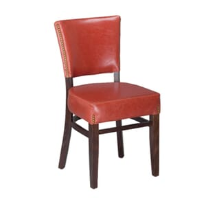 Cherry Wood Bennett Restaurant Chair with Upholstered Seat & Back