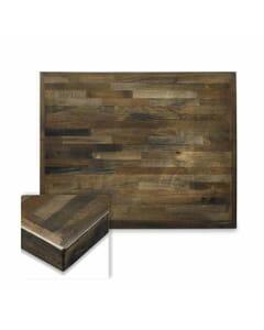 Rectangular Butcher Block Mixed Wood Indoor Round Dining Table Top in Urban Grey Finish
