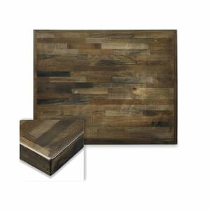 Butcher Block Mixed Wood Indoor Square Dining Table Top in Urban Grey Finish (30