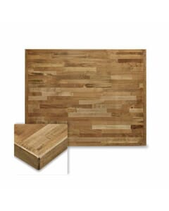 Rectangular Butcher Block Mixed Wood Indoor Round Dining Table Top in Urban Maple Finish