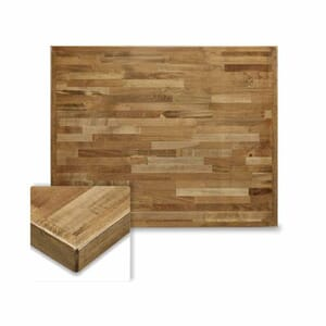 Butcher Block Mixed Wood Indoor Rectangular Dining Table Top in Urban Maple Finish