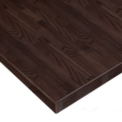Solid Oak Wood Butcher Block Dining Table Top in Walnut