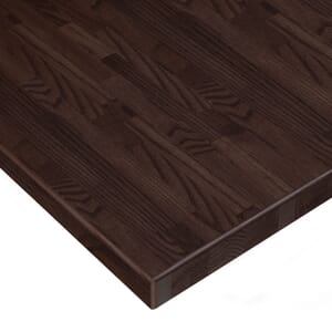 Solid Oak Wood Butcher Block Dining Table Top in Walnut