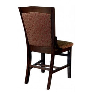 Fully Upholstered Walnut Schoolhouse Chair with Upholstered Seat
