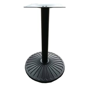 Indoor/Outdoor Round Black Cast Iron Table Base